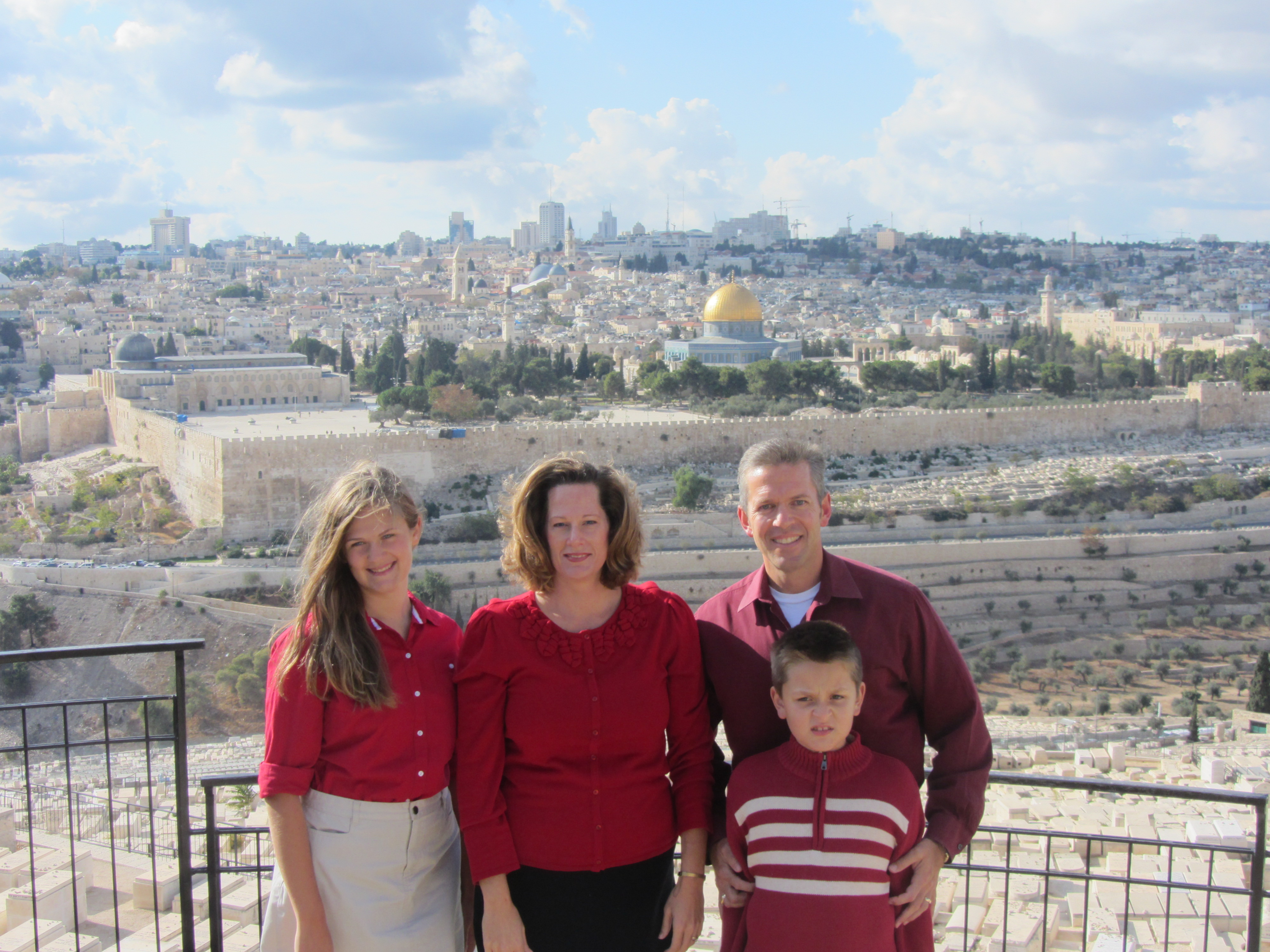 Mount of Olives with Family